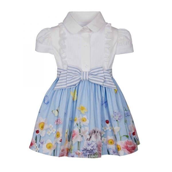 lapin house wit-blauwe jurk lente