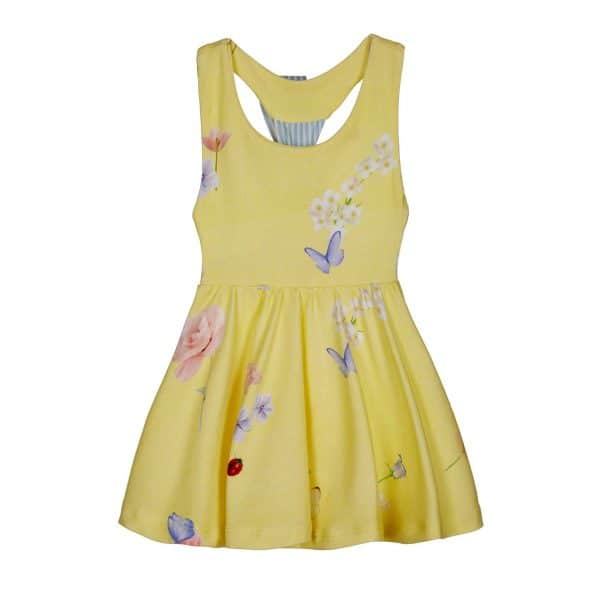 Lapin House zomerse jurk met vlinders voorzijde
