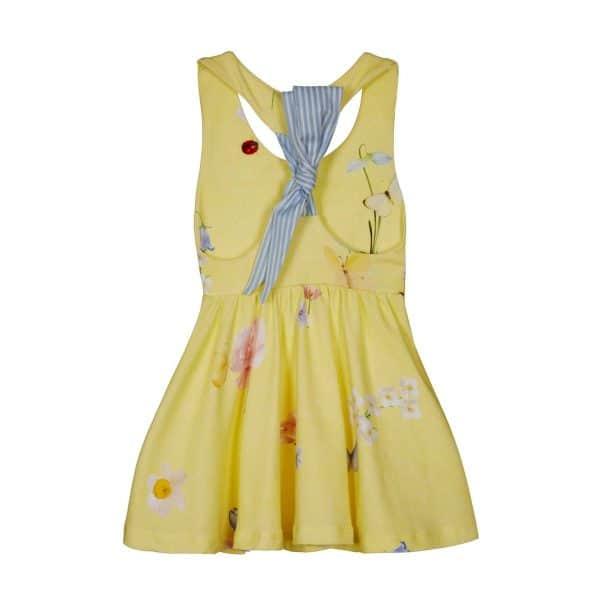 Lapin House zomerse jurk met vlinders achterzijde