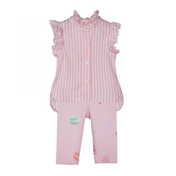 Setje met roze blouse