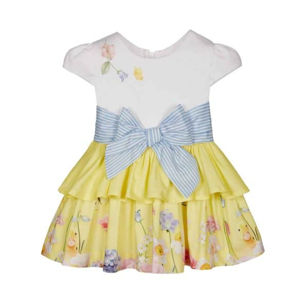 Lapin House wit-gele jurk