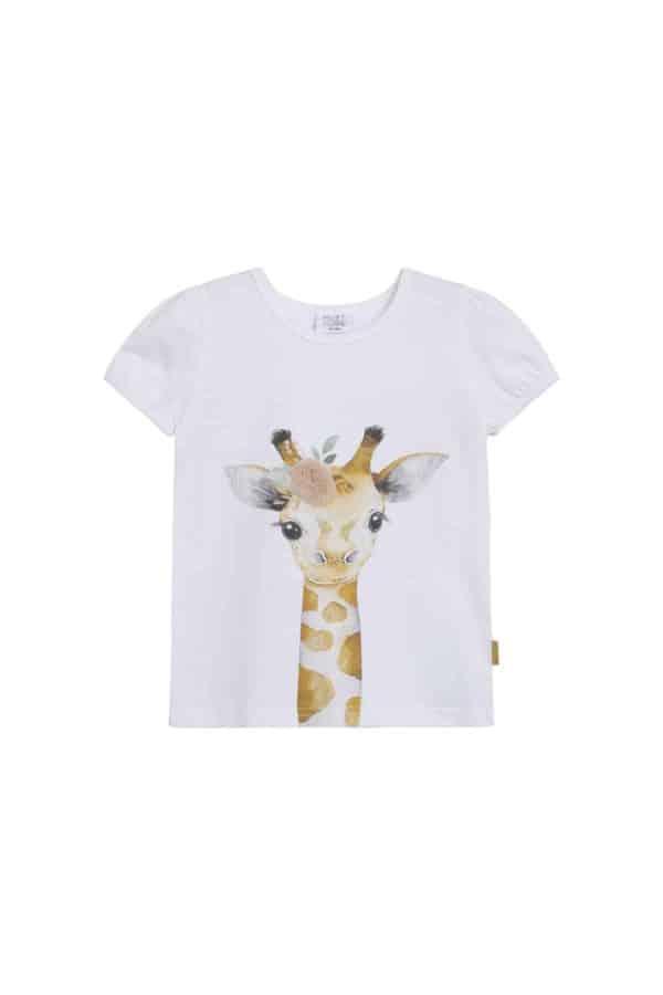 Hust and Claire T-shirt Annielle met opdruk van giraffe