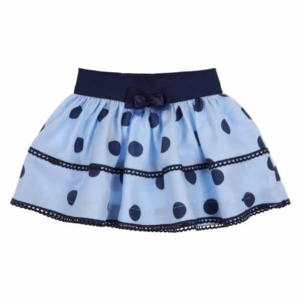 Gymp blauw rokje polka dots