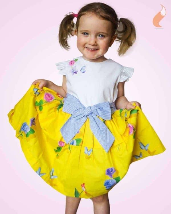 Lapin House wit-gele jurk thema lente