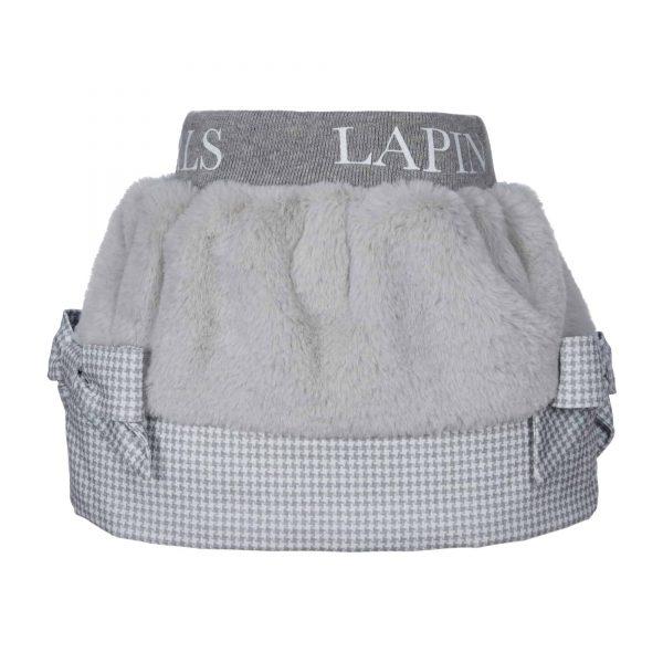 Lapin House grijs rokje met bont