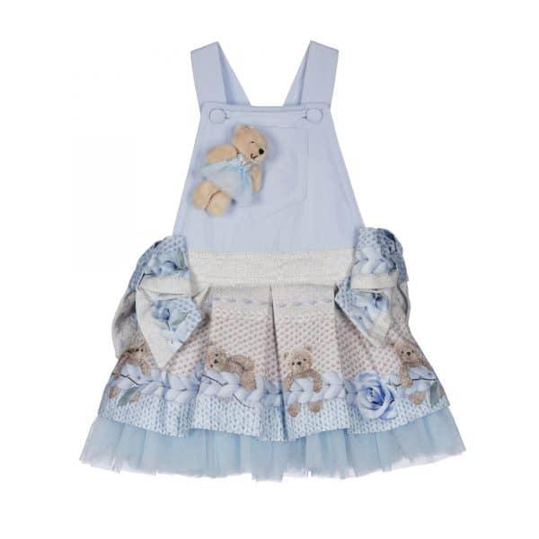 Salopette jurk blauwe beertjes Lapin House