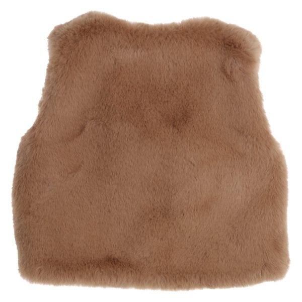 GYMP fake-fur gilet