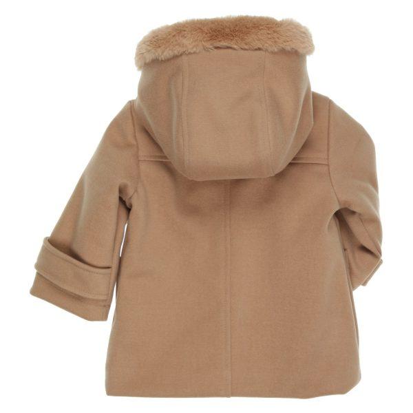 Warme mantel met fake fur Gymp